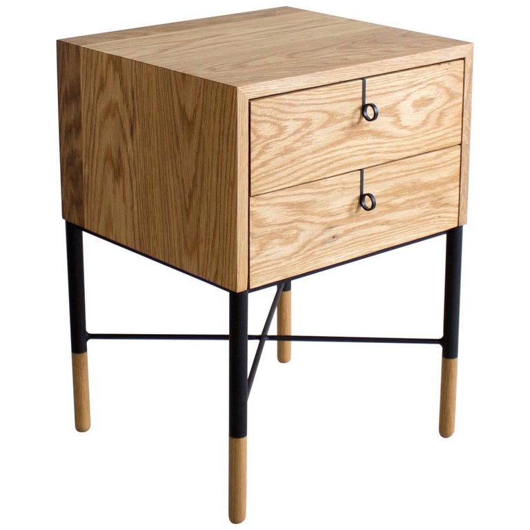 Phillips Two-Drawer Nightstand and Side Table For Sale