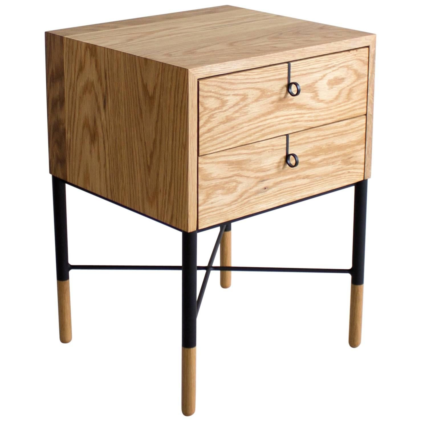 Phillips Two Drawer Nightstand And Side Table 1