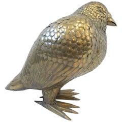 Large Brass Bird Sculpture by Sergio Bustamante