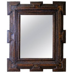 Unique Tramp Art Wall Mirror, Austria, circa 1890