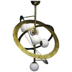 Late 20th Century Brass Solar System Ceiling Light