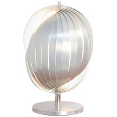 Magnificent Aluminium Table Lamp by Henri Mathieu