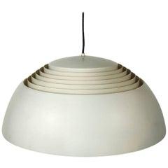 White AJ Royal Pendant Light by Arne Jacobsen for Louis Poulsen, Denmark, 1957