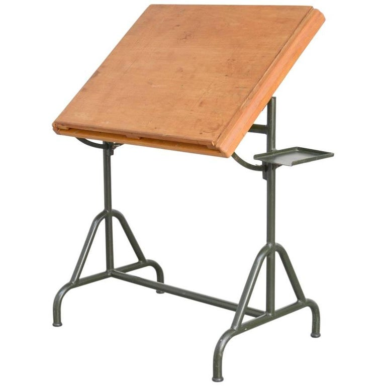 Old Industrial Drafting Table of the 1940s