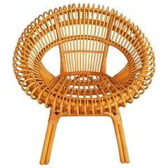 1960s Rattan Armchair