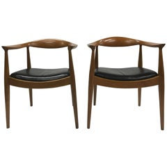 Pair of Hans Wegner Chairs by Danish Deluxe, 1960s
