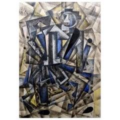Avantgarde Cubist Russian Painting, Malevich Popova Rodchenko Era Style