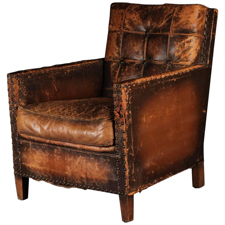 Late 19th-Early 20th Century Italian Lounge, Club Chair