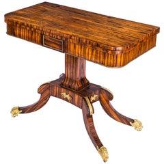 Early 19th Century English Regency Coromandel Ormolu-Mounted Console Games Table