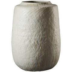 Large Handmade Grey Ceramic Stoneware Vase by Daniel Reynolds the New Craftsmen