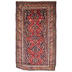 19th Century Antique Kazak Carpet Rug