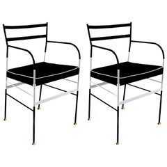 Pair of Paul Black and White Chairs by Sotow, Made in Italy
