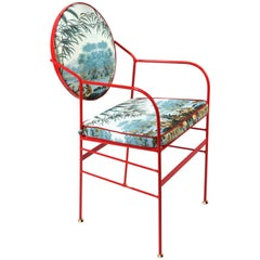 Luigina Red Escapes Chair by Sotow, Made in Italy