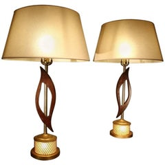 Pair of 1960s American Lamps