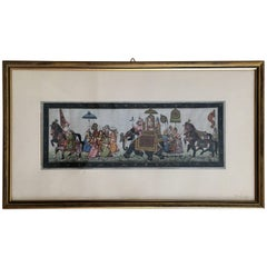 20th Century Miniature Indian Scene Painting