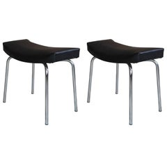"""Taureau"" Pair of Stool French Design of the 1950s by Pierre Guariche for Meurop"