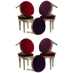 Louis XVI Style, Set of seven Stools from the Famous Restaurant The 1728