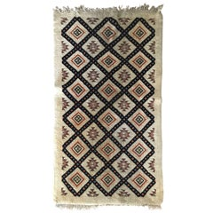 Moroccan Abstract Tribal Design Wool Carpet/Rug