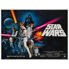 Star Wars Original UK Film Poster, Tom Chantrell, 1977