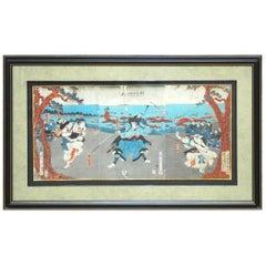 19th Century Japanese Woodblock Ukiyo-E Print by Yoshikado