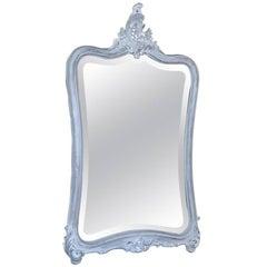 19th Century Italian Rococo Painted Mirror