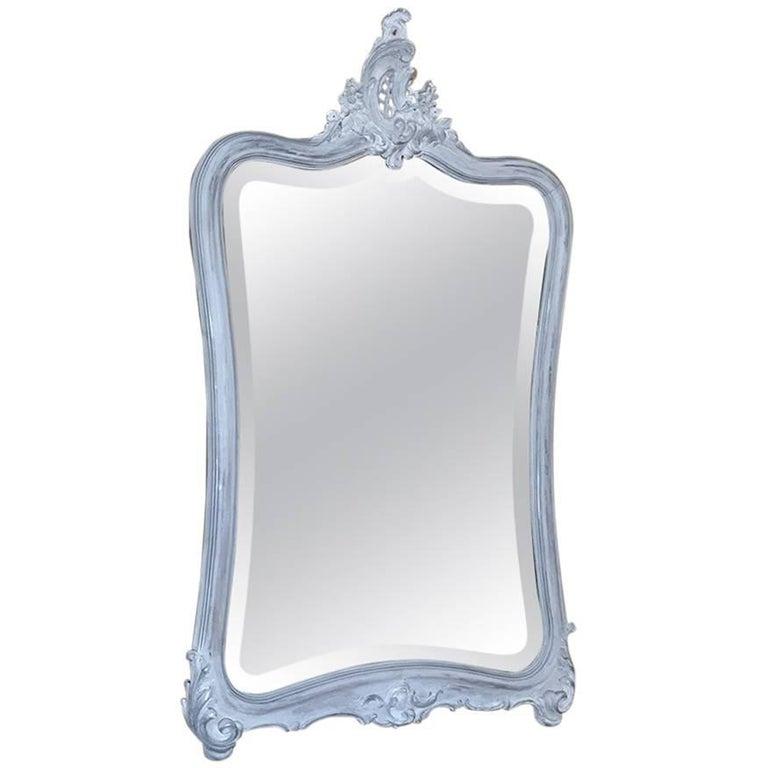 19th Century Italian Rococo Painted Mirror For Sale