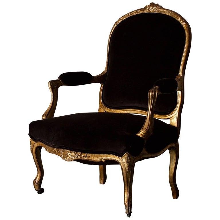 Armchair French Giltwood Rococo Style, France