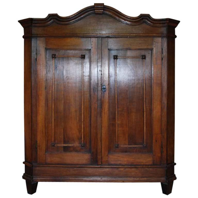19th Century German Oakwood Cabinet For Sale