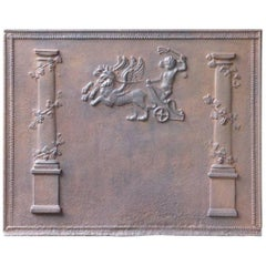 19th Century French 'Pillars with Decoration' Fireback
