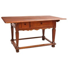 18th Century Tyrolean Farmhouse Dining/ Kitchen Table in Fruitwood from Austria
