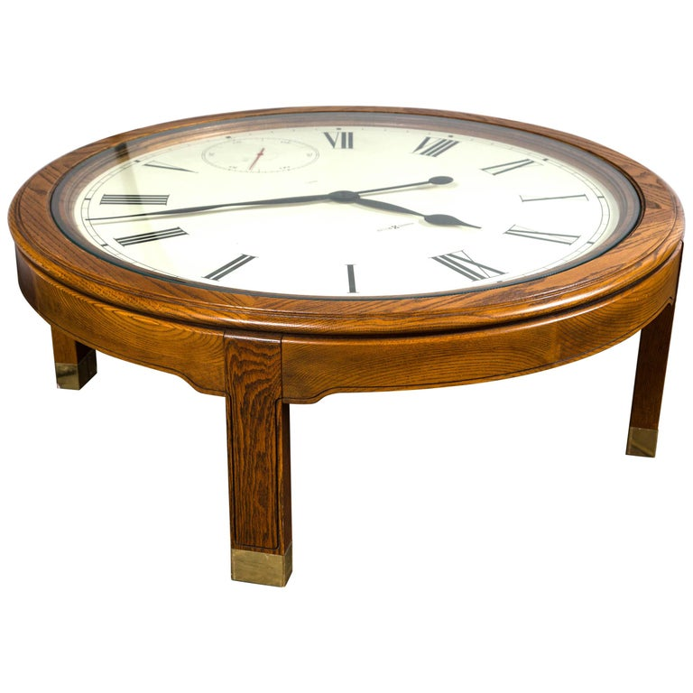 Howard Miller Clock Coffee Table For Sale At 1stdibs