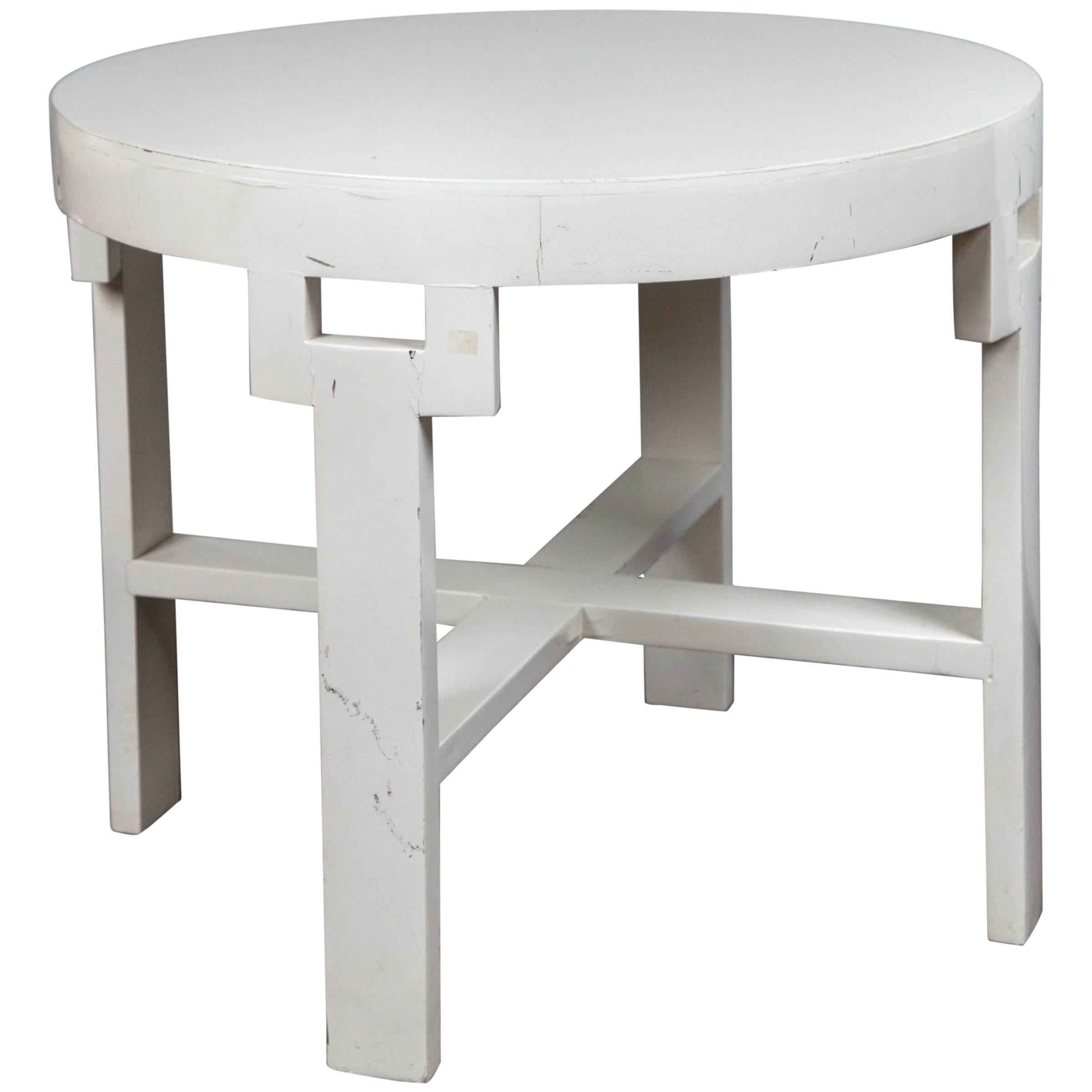 Authentic Dorothy Draper Round Side Table Custom-Made for the Greenbrier Resort