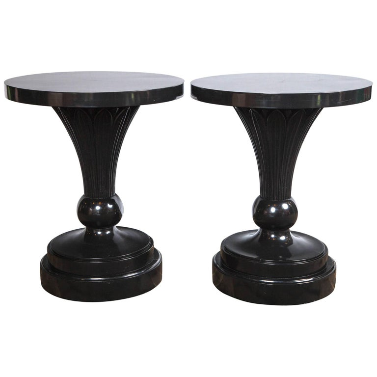 Authentic Dorothy Draper Pair of Tables Custom-Made for the Greenbrier Resort For Sale
