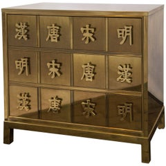 Mastercraft Brass Chest with Chinese Characters