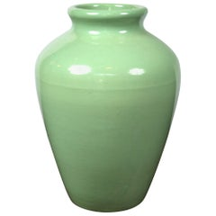 Large Green Pottery Oil Jar Urn