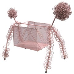 Frederick Weinberg Pink Poodle Magazine Stand