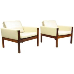 "Two ""AP62"" Lounge Chairs in Rosewood by Hans Wegner"