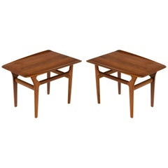 Pair of Danish Teak Mid-Century Modern Side Tables