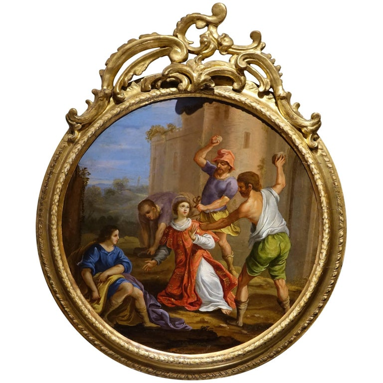 Stoning of Saint Stephen, Oil on Copper, Italian School, 17th Century