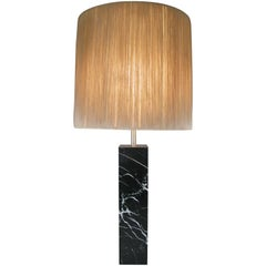 Classic 1950s Black Marble Table Lamp