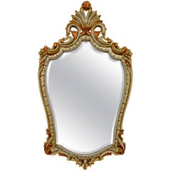 Louis XV Style Gilded and Painted Wood Mirror