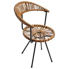 Rattan Chair by Dirk Van Sliedregt for Rohe Holland