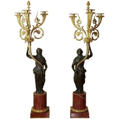 Pair of Louis XVI Candelabra Attributed to Jean-Jacques Foucou