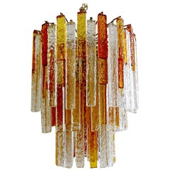 Large 127 Glasses Venini Murano Glass Chandelier