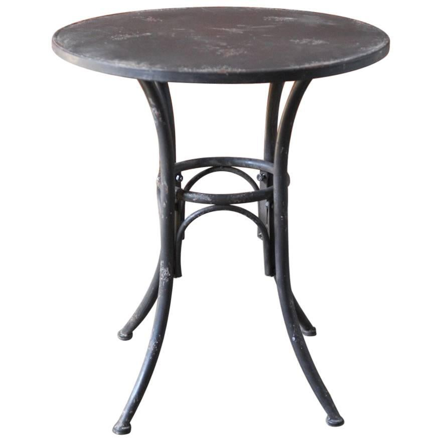 Distressed Metal Patio Bistro Table 1
