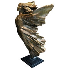 She Is Freedom 'Serenity', Bronze Sculpture by Robert Seguineau