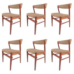 Set of Scandinavian Modern Teak Dining Chairs by SAX