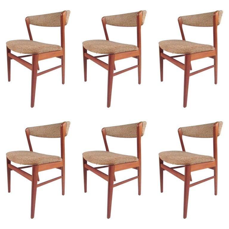 Set of scandinavian modern teak dining chairs by sax for sale at 1stdibs - Scandinavian teak dining room furniture ...