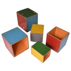 Bauhaus Children's Play Boxes Attributed to Alma Siedhoff-Buscher, circa 1925