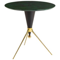 Trocadero Lacquered Goatskin Side Table